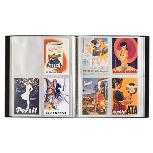 Leuchtturm (345088 Album pour 400 Cartes Postales, Noir, avec 50 Feuilles reliées Transparentes