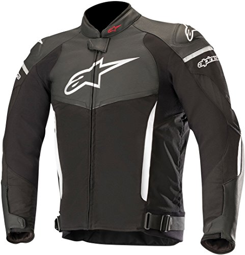 Alpinestars Chaqueta moto Sp X Jacket Black White, Negro/Blanco, 54
