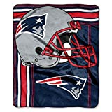 The Northwest Company Officially Licensed NFL New England Patriots 'Touchback' Plush Raschel Throw Blanket, 50' x 60', Multi Color