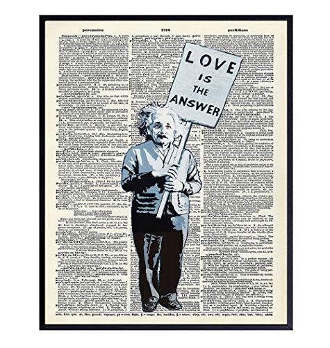 Banksy Albert Einstein Graffiti Dictionary Art - 8x10 Photo - Cool Unique Gift for Urban Street Art Mural Fans - Unframed Picture Poster Print