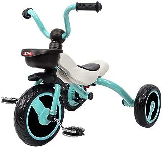 BTM 子供用三輪車 折りたたみ 乗用玩具 軽量 キッズバイク ランニングバイク おもちゃ プレゼント (グリーン)