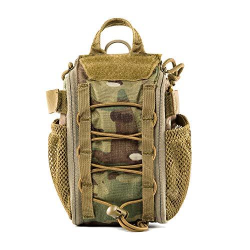 OneTigris MOLLE Militär Taktische Schnell EMT, Erste Hilfe Tasche Set für Reisen Camping Wandern Radfahren Outdoor Jagd und Abenteuer (Camo)