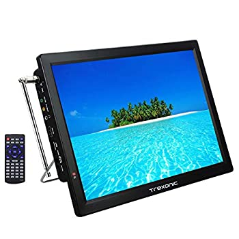 Trexonic Portable Rechargeable 14  LED TV with HDMI SD/MMC USB VGA AV in/Out and Built-in Digital Tuner