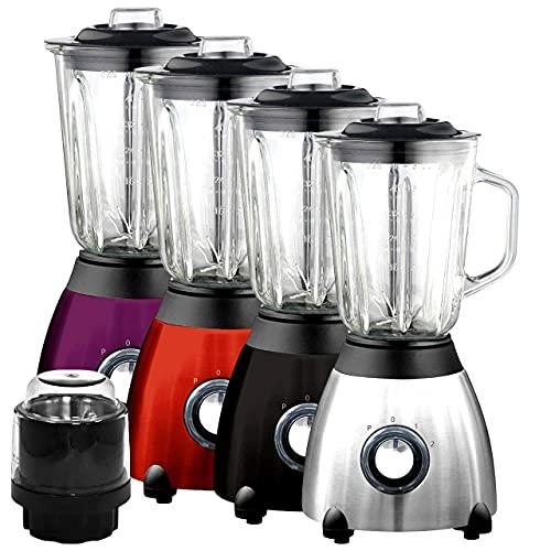 Blender Machine Maker(Gems 500 W) _ Juicer & Grinder Mixer with 1.5L Glass jug   Adjustable Speed for Milkshake, Frozen Fruit and Ice crusher (Amethyst)