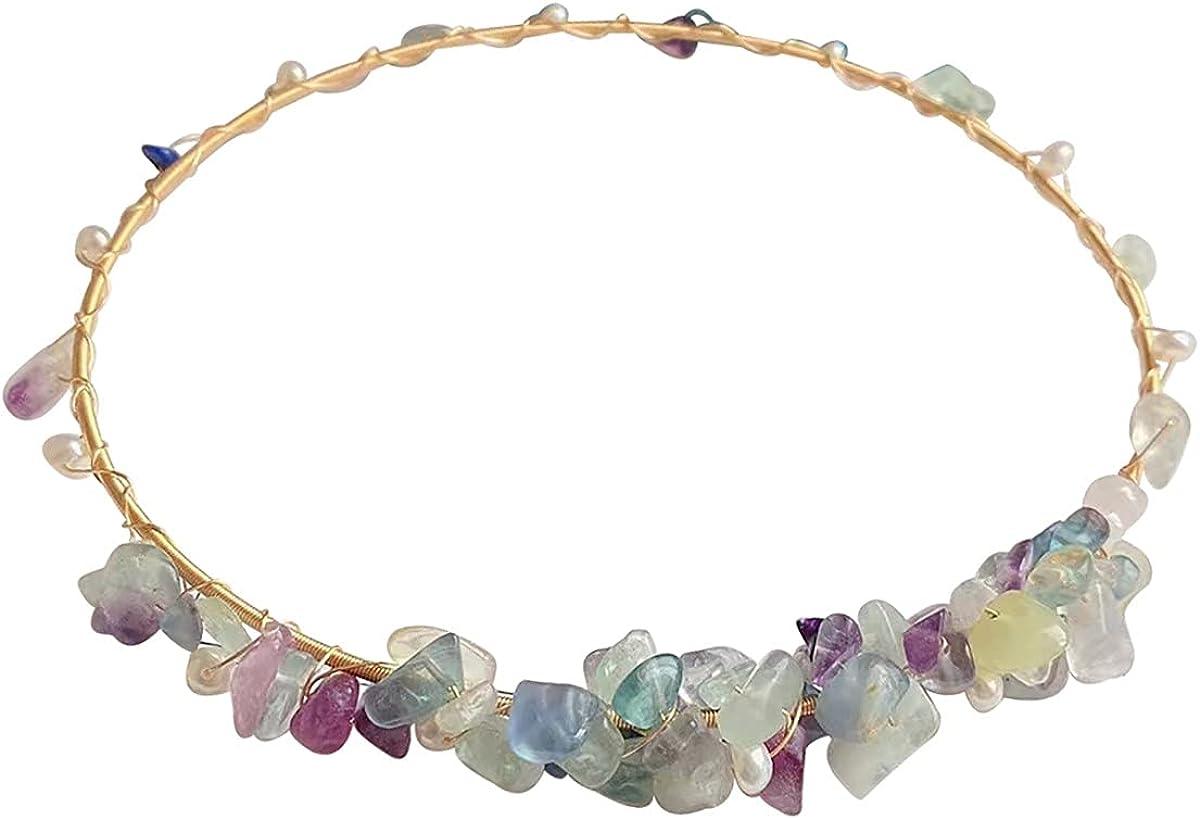 Qordelia Natural Amethyst Collar Necklace