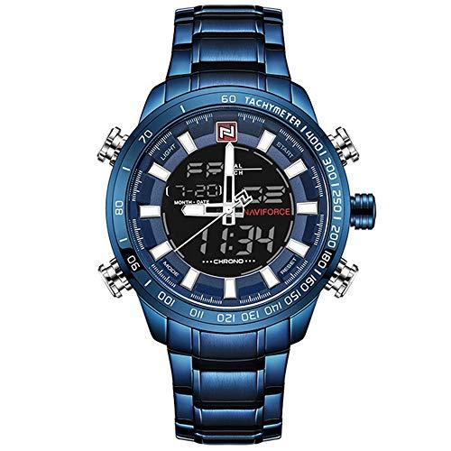 Relojes Deportivos Militares de Marca de Lujo para Hombres Reloj de Cuarzo Digital para Hombres Reloj de Pulsera Impermeable de Acero Completo relogio Masculino