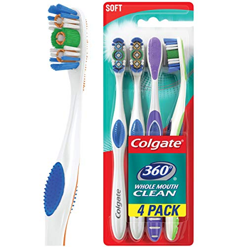 Colgate 360 Adult Full Head Soft Toothbrush 4 Count