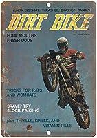 Dirt Bike Magazine Cover 金属板ブリキ看板警告サイン注意サイン表示パネル情報サイン金属安全サイン