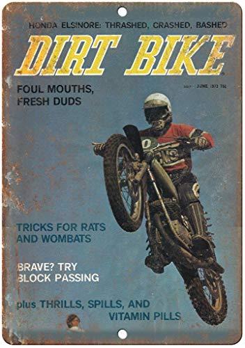 Lorenzo Dirt Bike Magazine Cover Vintage Metal Vintage Metallblechschild Wand Eisen Malerei Plaque Poster Warnschild Cafe Bar Pub Bier Club Dekoration