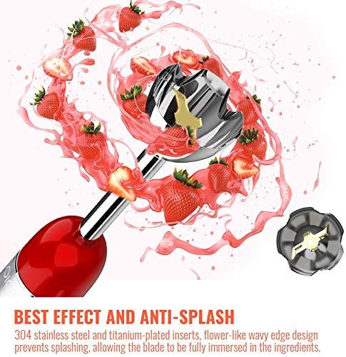 anti splash handle of KOIOS Hand Immersion Blender