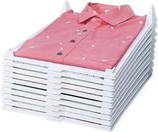 MEHTA'S CLOTH ORGANIZER Heavy Duty Shirt and T-Shirt Organiser Plastic Material, Effortless Closet Drawer File Cabinet Org...