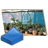 YJSMB Toldo Sombra, Malla Sombra Bloqueador Solar Borde con Cinta con Ojales Durable para Cubierta Vegetal Invernadero Huerta O Alberca (Color : Blue, Size : 8x8m/26.2x26.2ft)