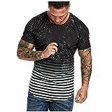JiaMeng-ZI Casual Muscle Camiseta de Manga Corta para Hombre Casual Guapo con Cuello en V de Color sólido Slim Fit Daily Shirts Top Blusa Party Beach Work Summer, Cheap Clearance!