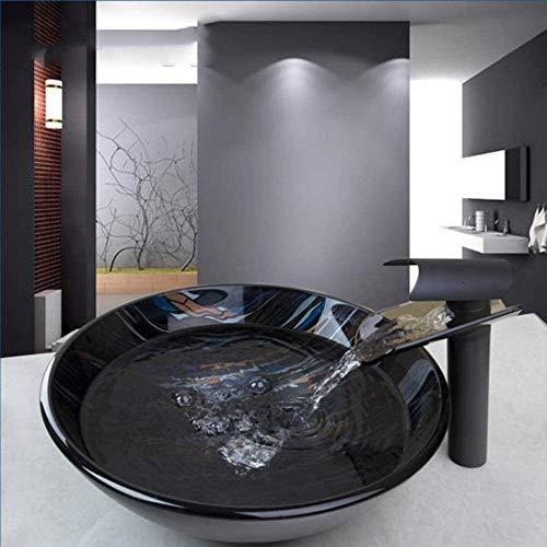 JOMOSIN SLT0212 Glass Single Manija Tap + Fregadero de baño Lavabo de Lavado de Vidrio Pintado a Mano Fregadero de Lavabo. Robusto