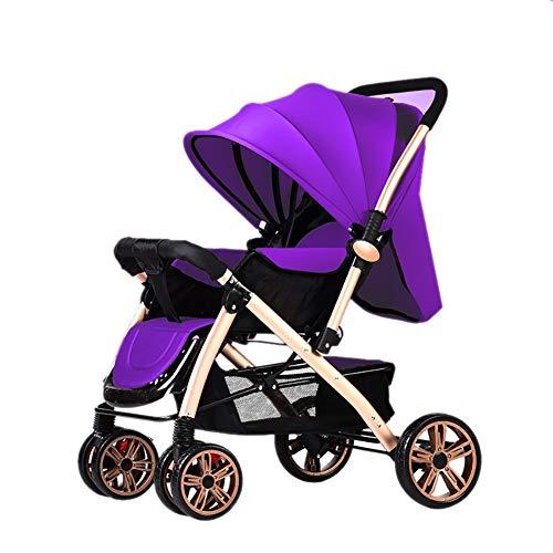 Poussetter Yhz@ Baby Pliante légère Landau 0/1-3 Ans Chariot Enfant Simple Portable (Couleur : Purple)