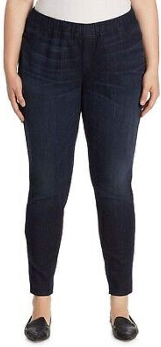 Eileen Fisher Plus Frost Light Blue Organic Cotton Soft Stretch Denim Jeggings Size 3X MSRP $198