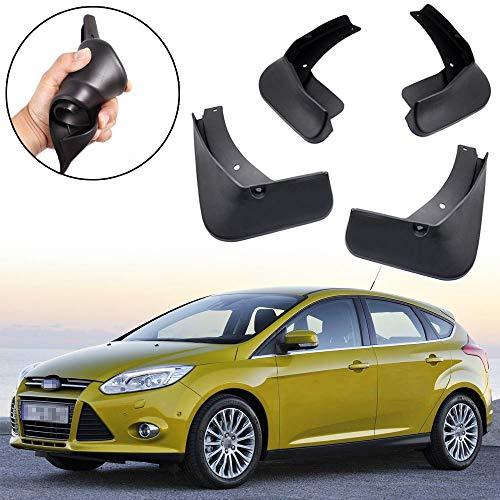 L&U 4Pcs Set vorne und hinten Schmutzfänger Spritzschutz Klappe für Ford Focus Mk3 Schrägheck Modelle 2012-2016