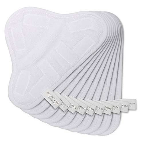OuyFilters Ersatz-Pads für Dampfreiniger, waschbar, Mikrofaser, für H2O H20 X5 (9,8 x 17,8 cm)