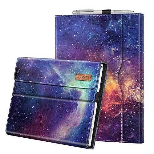 Fintie Hülle für Microsoft Surface Pro 7+ / Pro 7 / Pro 6 / Pro 5 / Pro 4 / Pro 3 - Multi-Sichtwinkel Kunstleder Tasche Schutzhülle mit Dokumentschlitze, Type Cover kompatibel, Die Galaxie