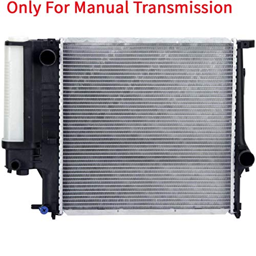 YHA MT Radiator Manual Transmission Assembly without Oil Cooler Compatible with 91-99 1.8L 1.9L 32mm Core CU1295
