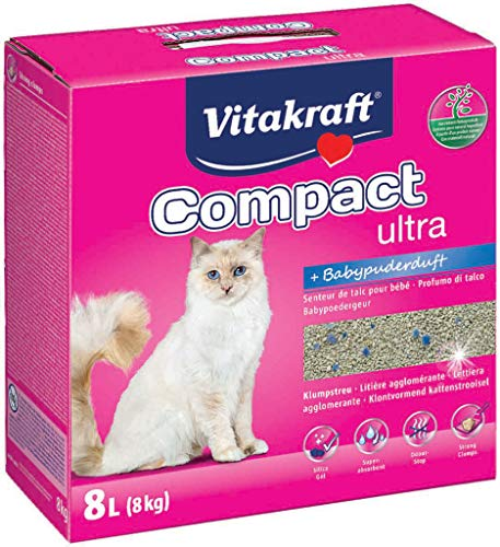 Vitakraft 16079 Compact Ultra Plus pour chat, 8 kg