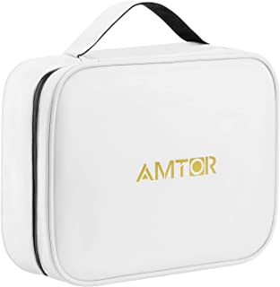 Sponsored Ad - AMTOR Toiletry Bag Travel Bag with Hanging Hook, Waterproof Tyvek Makeup Cosmetic Bags Travel Organizer wit...