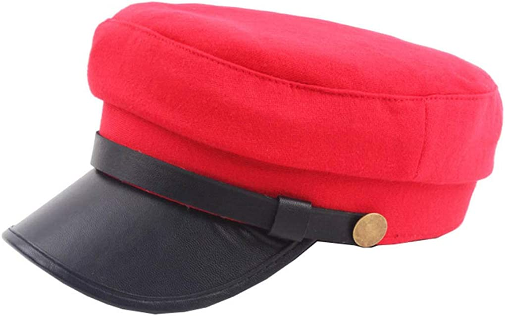 Women Classic Yacht Captain Sailor Cabbie Hat 2021 spring and summer new Beret Cap Limited Special Price Newsboy