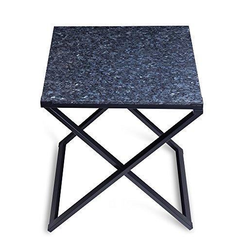 Mejor SLEEPLACE Granite Top, Blue Pearl & Black Side Table, crítica 2020