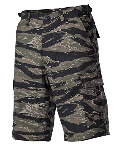 MFH US BDU Bermuda Ripstop Herrenhose Shorts Kurze Hose Cargo Sommerhose verschiedene Ausführungen (XL, Tiger Stripe)