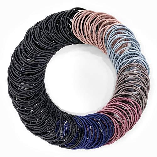 Kavya Haargummi Damen, 200 Stück Haarbänder Elastisch Stirnband, Zopfgummis Gummiband Bands Seil, Gummibänder Haarband Damen für Mädchen Frauen Haarfrisuren
