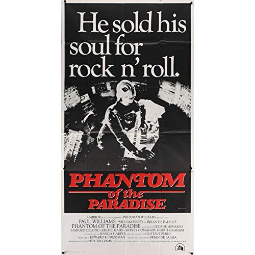PHANTOM OF THE PARADISE Affiche de film - 104x206 cm. - 1974 - Paul Williams, Brian de Palma