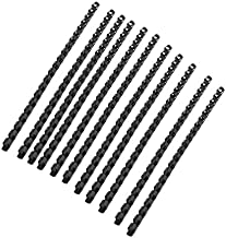 Chris.W Plastic Binding Combs 21-Ring, Black Comb Binding Ring, 8mm, 40-Sheet(80gsm 20lb) Capacity, Max. Binding A4 Size Paper (8.3 x 11.7inches) Box of 100