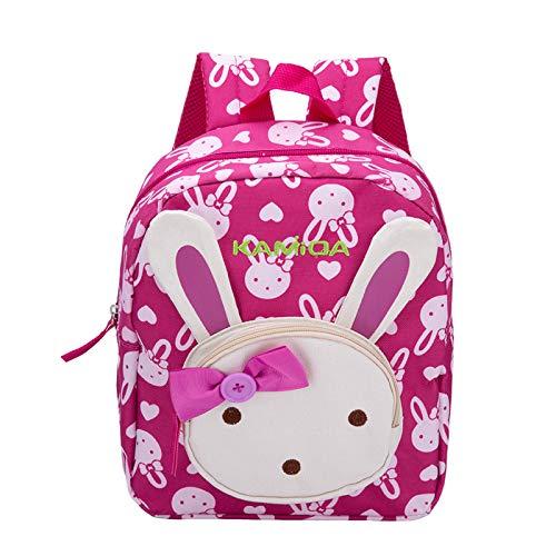 BAIGIO Kinderrucksack Kinder Mini Schulrucksack Hase Kindergartentasche für Jungen Mädchen Kleinkind (Rose Red)