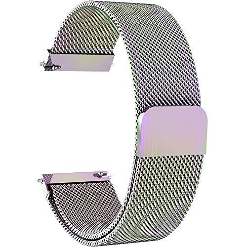 『時計バンド ベルト、 Fullmosa 全6色 Smart watch バンド マグネット式 腕時計バンド ベルト ウォッチバンド ミラネーゼ メッシュバンド 交換ベルト』の1枚目の画像