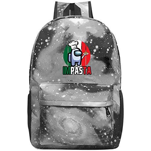 Among Us Galaxy Zaino Impermeabile Scuola Borsa Casual Bookbags per Bambini Ragazzi Ragazze Zaino Zaino