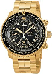 Seiko Men's SNA414 Flight Alarm Chronograph Watch - see my reviews first