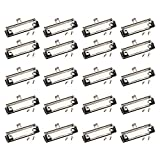 Clipboard Clips- 20-Pack Mountable Clips, Metal Hardboard Clips with Rubber Feet, Perfect for Office, Craft...