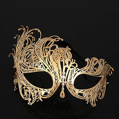 CLEAVE WAVES Maskerade Masker Filigree Metalen Oogmasker Met Rhinesones Voor Vrouwen Kostuum Gemaskerde Bal Fancy
