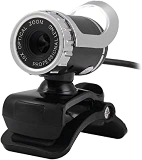 WXFXBKJ Web Camera, USB Webcam with Microphone, HD Web Cam Camera 360°, USB Plug & Play, for Computer PC Laptop for Skype/...