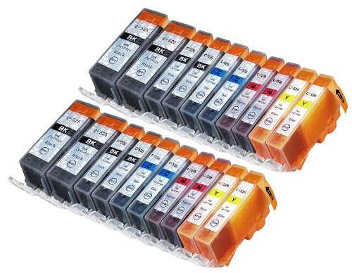 20 Multipack XL Canon CLI-521 , PGI-520 Patronen Kompatible. 4 schwarz (klein), 4 cyan, 4 magenta, 4 gelb, 4 schwarz (groß) für Canon Pixma iP3600, Pixma iP4600, Pixma iP4700, Pixma MP540, Pixma MP540x, Pixma MP550, Pixma MP560, Pixma MP620, Pixma MP620B, Pixma MP630, Pixma MP640, Pixma MX860, Pixma MX870. Tintenpatrone. Tinten kompatible Druckerpatronen. CLI-521BK , CLI-521C , CLI-521M , CLI-521Y , PGI-520BK © Patronenland