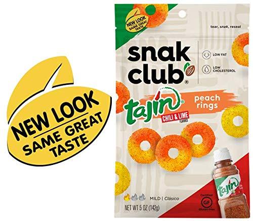 Snak Club Tajin Peach Rings, 5 Ounce, 6 Count