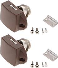 B Baosity Set van 2 Zinklegering Drukknop Klink Kast Lock Knop voor Kast/RV/Boot (Pearl Nickel)