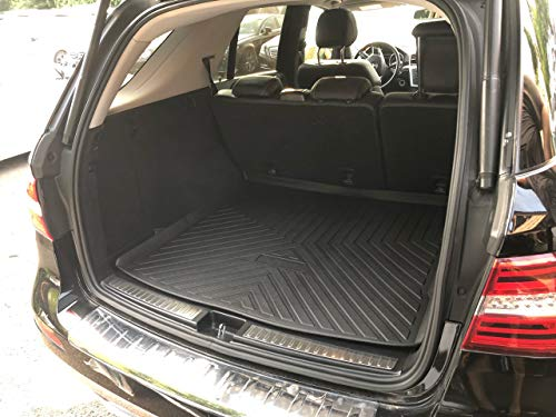 Rear Trunk Liner Tray Mat Pad for MERCEDES-BENZ ML GLE Class SUV 2012 2013 2014 2015 2016 2017 2018 2019 Floor Cargo Cover Protection Dirt Mud Snow All Weather Season Waterproof 3d Laser Measured