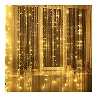 Sognante Ledライト、カーテン導かれたひもライト1x3 / 2x2 / 2x3 / 3x3 Mled電気ボール窓壁装飾城灯家の装飾照明 ルーシー装飾 (Color : Warm White, Size : 2MX3M)