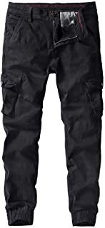 YYG Men's Ripstop Casual Military Athletic Outdoor Multi-Pockets Cargo Jogger Pants Trousers