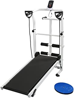 Manuale Tapis Roulant, con Display a LED Running, Sit-Up e Whirling Fitness Famiglia 145 * 54 * 110 cm
