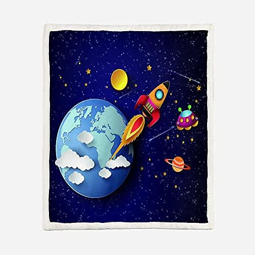 Griglia a Doppia Faccia 130*150 cm Coperta Quattro Stagioni Coperte Lana Sono Adatte per Divano Camera da Letto E Ufficio Tenere Caldo Blanket Anti-Allergiarazzo anime