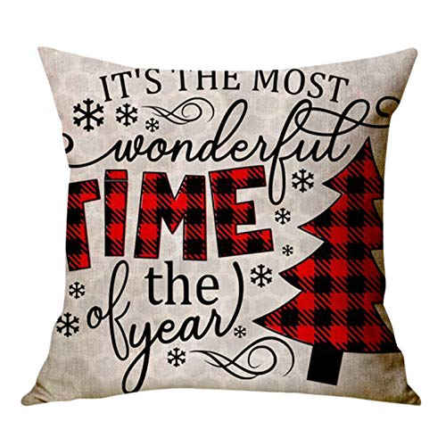 Home Christmas Decor Cushion Cover Survived Family Pillowcase Throw Pillow Cover Car Cushion Covers for Sofa Bed Home Decor Set of 4 or 1, 45 x 45cm