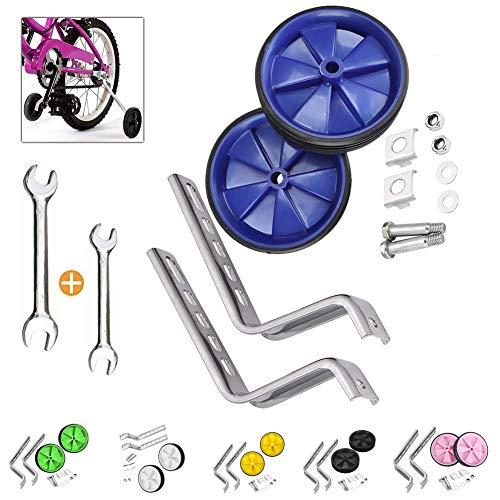 Niños Entrenamiento Ruedines,Bicicleta Estabilizador Ruedas,Ruedines,NiñOs Riding Equipment (Azul)