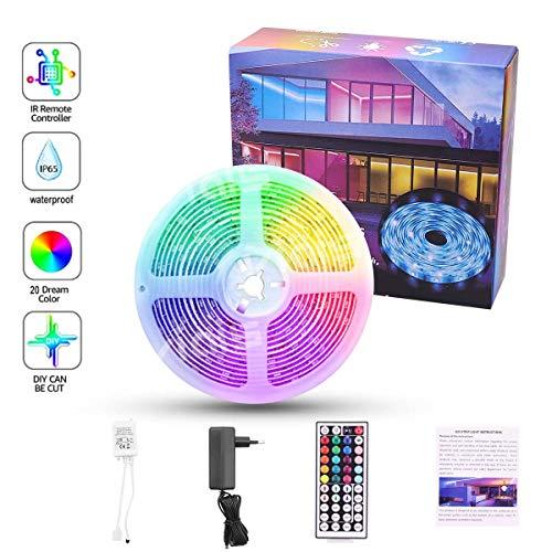 LED Strip 5m RGB,Ytesky LED Lichterkette Streifen Farbwechsel Led Streifen Lichterkette Band mit 44 Tasten Fernbedienung, LED Leiste, LED Lichtleiste für Schlafzimmer, Party und Feriendekoration